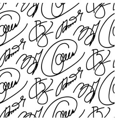Collection of signatures fictitious vector