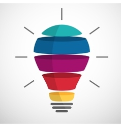 Colorful sliced bulb vector image vector image