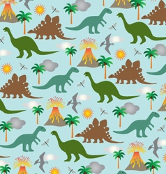 Dinosaur scene vector