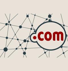 Domain names concept vector