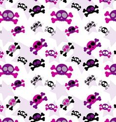 Girly skull background vector