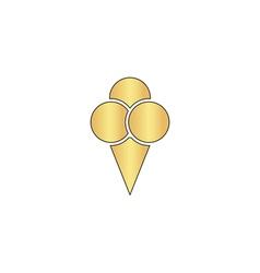Ice cream computer symbol vector