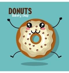 icon donut glazed white graphic vector image vector image
