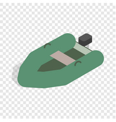 inflatable boat isometric icon vector image