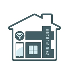 Iot house technology vector