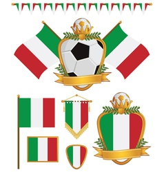 Italy flags vector