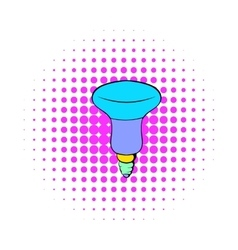 Led bulb icon comics style vector