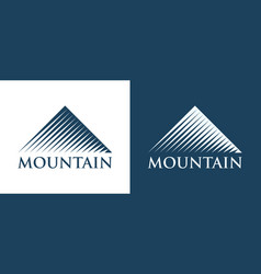 logotype of mountains vector image vector image