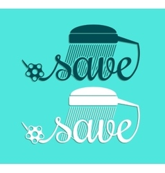 Minimal style save water symbol template vector image