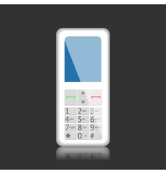 Mobile phone with keys vector image vector image