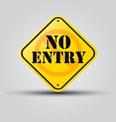 no entry vector image vector image