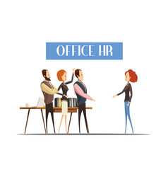 office hr cartoon style vector image vector image