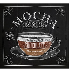 Poster mocha chalk vector image vector image