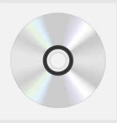 silver dvd disc vector image