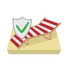 Travel insurance icon cartoon style vector