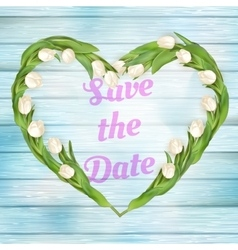 Tulip save the date card eps 10 vector