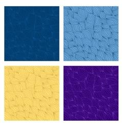 Wavy seamless set vector image vector image
