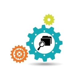 Gears and technology icon vector