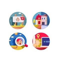 Real estate market vector image