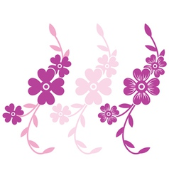 Flower branch vector image