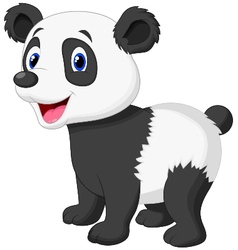 Cute panda bear cartoon vector