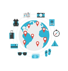 228world travel vector image