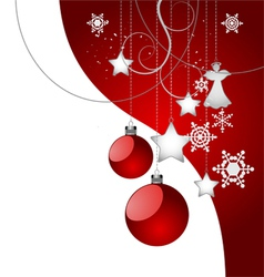 Christmas background red color vector image