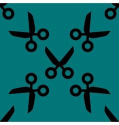Scissors web icon flat design seamless pattern vector