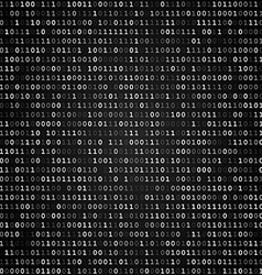 Binary code screen black vector image