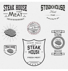Steak house badges logos and labels for any use vector