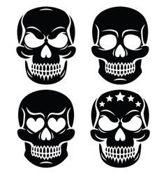 Halloween human skull design - Day of the Dead vector image