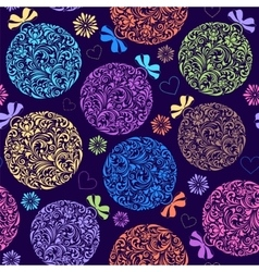 pattern with colorful christmas ball vector image