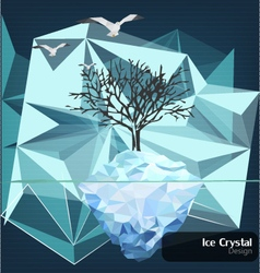 Ice-crystal-design vector
