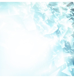 Abstract blue ice background vector