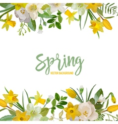 Spring blossom background - flowers vector