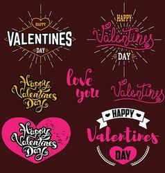 valentines day badges set vector image