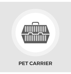 Pet carrier flat icon vector