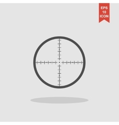 Sight device icon vector
