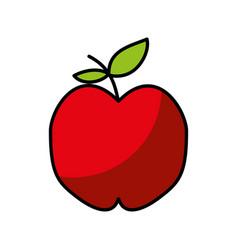 Apple fresh fruit drawing icon vector