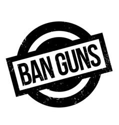 Ban guns rubber stamp vector
