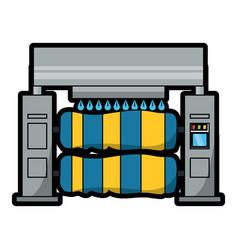 Car wash machine icon vector