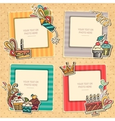 Collage photo frame vector