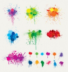 colorful splats vector image