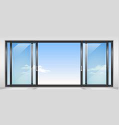 Contemporary sliding door vector
