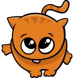 Cute little cat cartoon vector