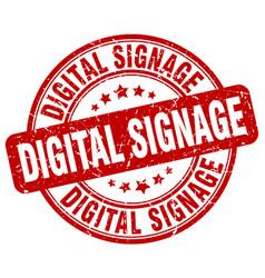 Digital signage red grunge stamp vector