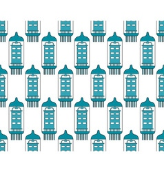 Electron tube pattern vector image vector image