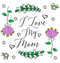 Happy mother day design style vector