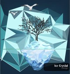 Ice-crystal-design vector