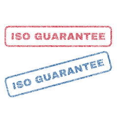 Iso guarantee textile stamps vector